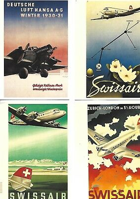 monde 16 cartes postales neuves thème l'aviation