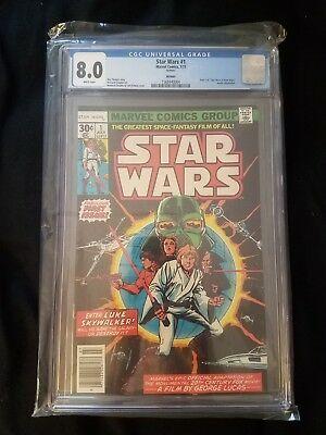 Star Wars #1 Comic (Jul 1977, Marvel) CGC 8.0 REPRINT