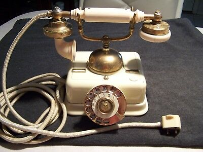 Antique Danish French Victorian Vintage Sultan Denmark Rotary Telephone It Works