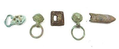 Authentic Lot Of Medieval Bronze Buckles & Fittings  - G88