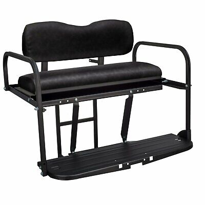Gusto™ Club Car Precedent Golf Cart Flip Folding Rear Back Seat Kit - Black