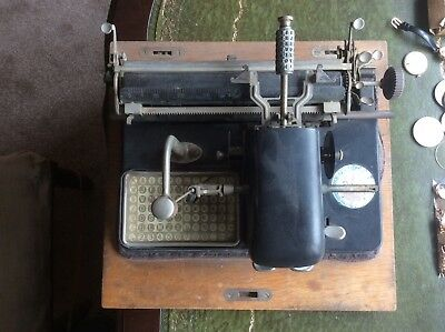 Antique Typewriter By Mignon Of Paris For Display Only