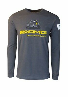 Oem Genuine Mercedes Benz Men's Amg Graphic Long-Sleeve T-Shirt