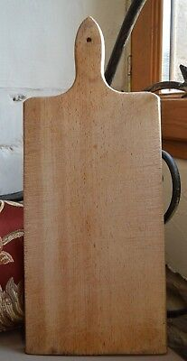 French vintage bread board for baguettes with hole in handle to hang the board.