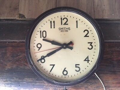 Smiths Electric wall clock vintage