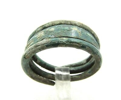 Authentic Medieval Viking Era Bronze Coiled Snake Ring - G122