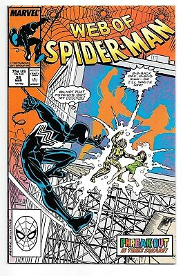 WEB OF SPIDER-MAN #36 (3/88 Marvel) VF- (7.5) FIRST APPEARANCE TOMBSTONE! KEY!