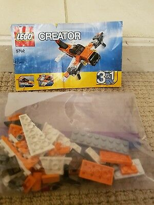 Lego Creator 5762 3 In 1 Mini Plane Orange Instructions Only 275