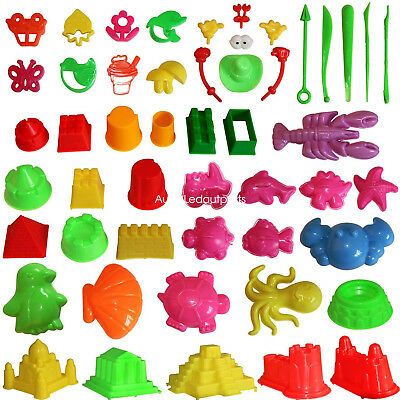Sand Molding Toys Activity Sand Art Kits 46pcs Deluxe Kinetic Mold for Sands