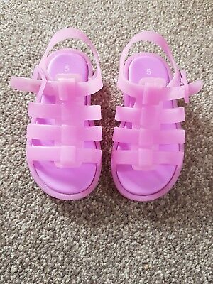 9874ec8aa75f GIRLS NEXT JELLY shoes size 5 - £2.00