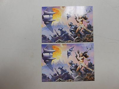 1994 More Than Battlefield Earth promo card lot of 2! (Comic Images)! NM/MN!