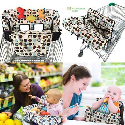2 In 1 Shopping Cart / High Chair Cover For Baby Toddler Boy Girl Carry Pouch