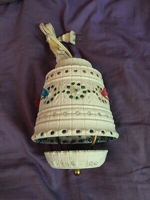 """LAWNWARE Vintage 10"""" CRAFTED PLASTIC FLOWER POT PATIO RV CAMPING HANGING LIGHT"""