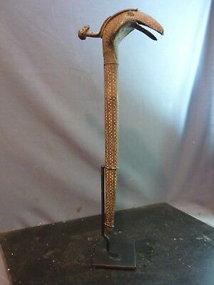 Rare & Collectable Dogon Bronze King Cobra Snake w/Stand, Mali.
