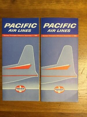 Pacific Airlines 1965 System Timetable Lot (two)