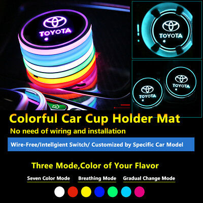 1pcs Colorful LED Coaster Atmosphere Car Part Light Bulbs For Toyota Neon Lights