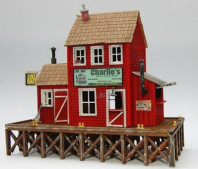 PLANS ONLY - Charlie's Bait & Tackle HO Scale Building Plans Model