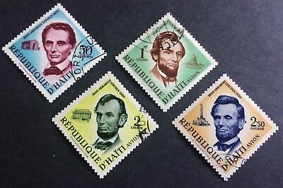 Haiti 4 old stamps 1959