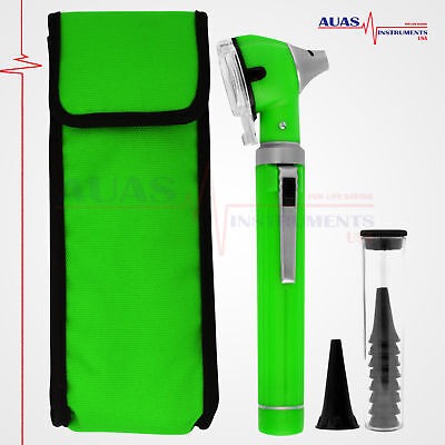 OTOSCOPE GREEN MINI FIBER OPTIC POCKET,MEDICAL,DIAGNOSTIC,OTOLOGIST, ENT, New