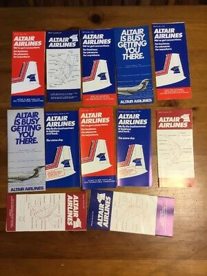 Altair Airlines 1970's Timetable Lot.