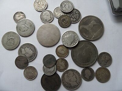SCRAP OR COLLECT SILVER COINS .925- .500 98.9gr