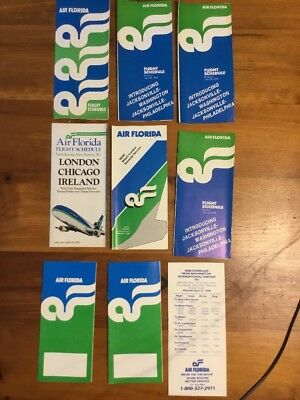 Air Florida Timetable/flight Schedules 1970's
