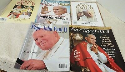 Lot Of 5 Vintage Pope John Paul Ii Magazines