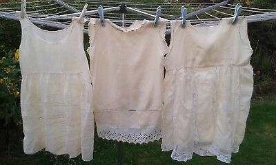 Vintage silk ? childs petticoats x 3, various a/f