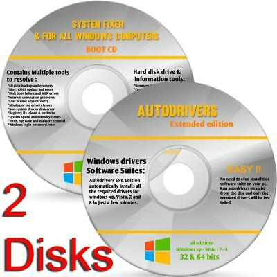 LATEST Windows 10 Pro 64 bit 32 bit Recovery Repair System Boot Disc DVDs Disk