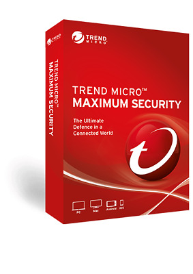 Trend Micro Maximum Security 12 2018 1 Year 3 Devices | DELIVERY Within 24hours