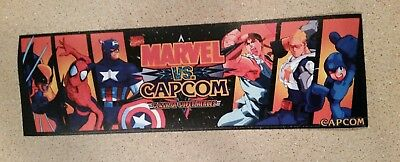 Marvel Vs. Capcom arcade marquee sticker. 3x10 (Buy 3 stickers, GET ONE FREE!)