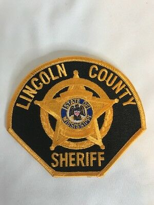 Lincoln County Sheriff State Of Mississippi Patch