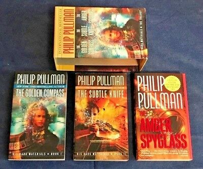 LOT of 3 HIS DARK MATERIALS TRILOGY by PHILIP PULLMAN, Boxed Set
