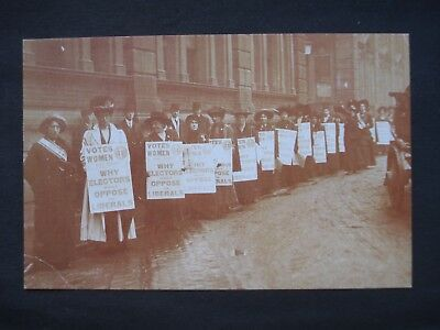 Nostalgia Reproduction Post Card Suffragettes, January 1910, London
