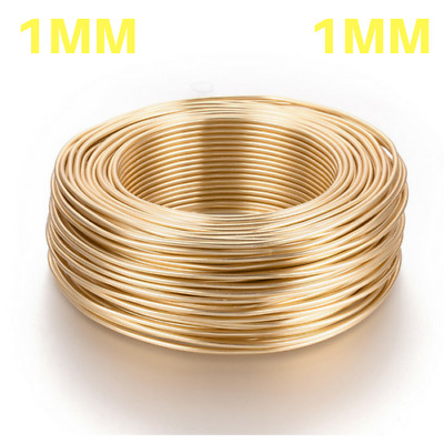 1mm 14K GOLD PLATED Aluminium Craft Florist Wire Jewellery Making 10m length