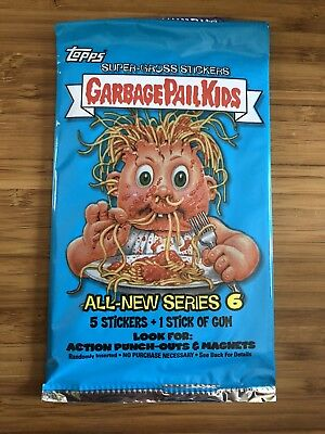 2007 Garbage Pail Kids All New Series 6 ANS 6 Unopened Sticker Pack from Box