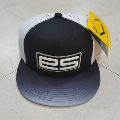 "EvoShield ""ES"" Flat Bill Snap Back Hat - Baseball - Black/White - WTV8706BLOSFM"