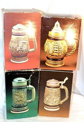 Avon Steins Lot of 4 cologne Clint Trazarra Wild Country Sporting Decanter Car