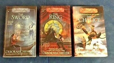 LOT of 3 THE SWORD, THE RING, AND THE CHALICE by DEBORAH CHESTER
