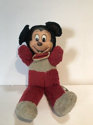 RARE 1950s Vintage Disney Mickey Mouse Plush Doll by Walt Disney Productions