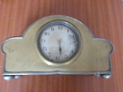 Antique Platform Balance Mantel Clock 8 Day Movement Working For Spares