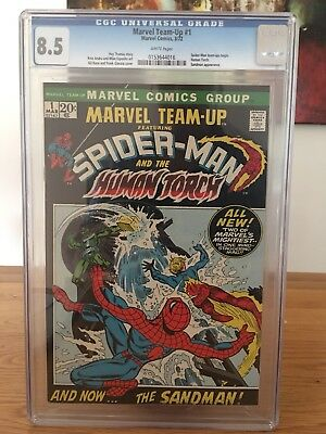 Marvel Team Up No 1 CGC 8.5 White Pages