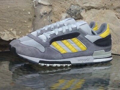 0a1a26692d6e5 Vintage Adidas ZX 600 UK 9 2006 Grey Yellow OG 8000 500 710 micropacer 280  310
