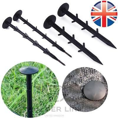 "*UK Seller* HEAVY DUTY 6"" Weed Control Fabric Securing Pegs Fixing Anchor Cover"