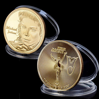 The King of Pop Michael Jackson Commemorative Coins Gold Plated Coin Souvenir