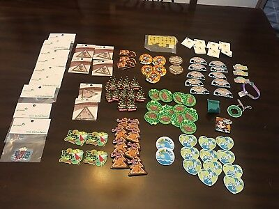 Large Lot of Girl Scouts & Junior Girl Scouts Patches Pins and misc items new