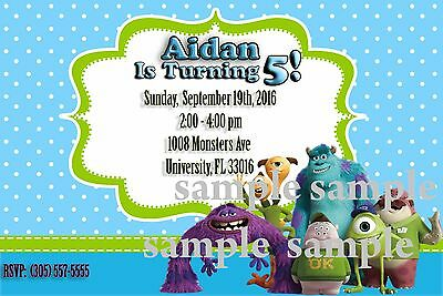 Monsters Inc Birthday Invitation (Digital)