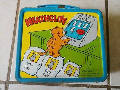 Vintage 1982 Aladdin HEATHCLIFF Lunch Box Lunchbox & Thermos