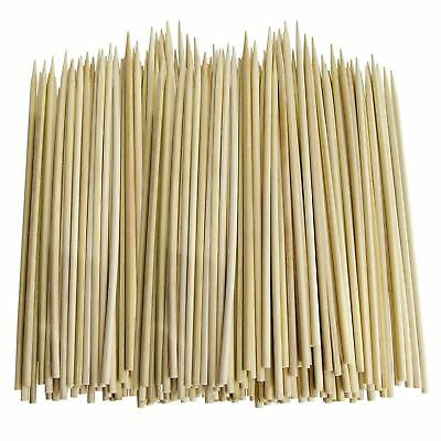 100 - 300 BBQ BAMBOO STICKS Wooden Skewers Fruit Chocolate Fountain Sticks 30cm