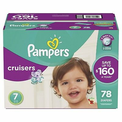 Pampers Cruisers Diapers, Size 7, 78 ct